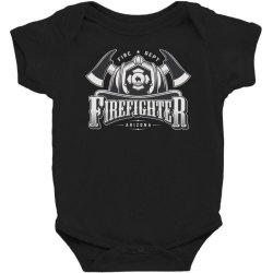 Fire dept, Firefighter, Fire, Fireman,  Arizona Baby Bodysuit | Artistshot