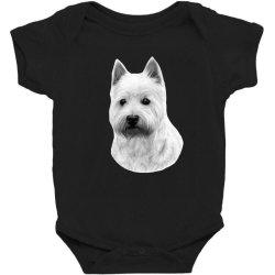 West Highland White Terrier Baby Bodysuit   Artistshot