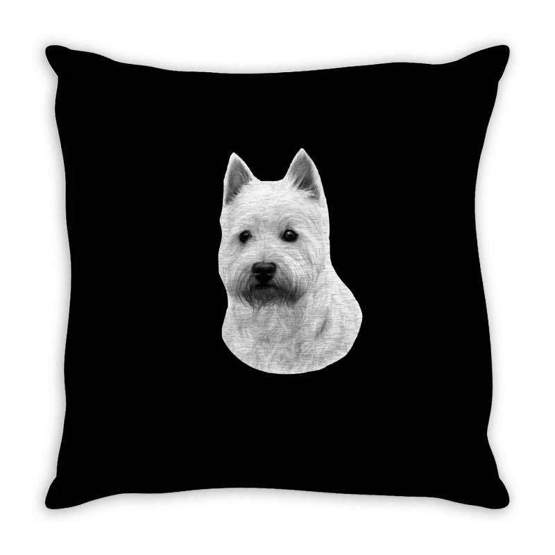 West Highland White Terrier Throw Pillow   Artistshot