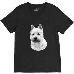 West Highland White Terrier V-Neck Tee   Artistshot