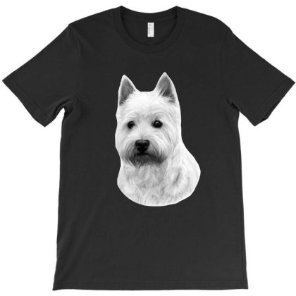 West Highland White Terrier T-shirt Designed By Animalpaintings