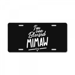 Womens I'm One Blessed Mimaw - Mother Grandma Gift License Plate | Artistshot