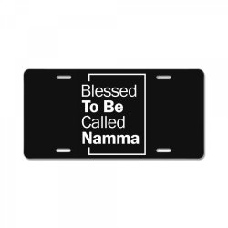 Blessed To Be Called Namma - Mother Grandma Gift License Plate | Artistshot