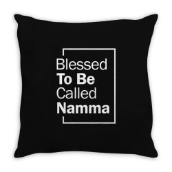 Blessed To Be Called Namma - Mother Grandma Gift Throw Pillow | Artistshot