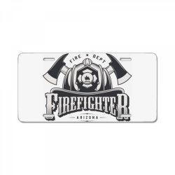 Fire dept, Firefighter, Fire, Fireman,  Arizona License Plate | Artistshot