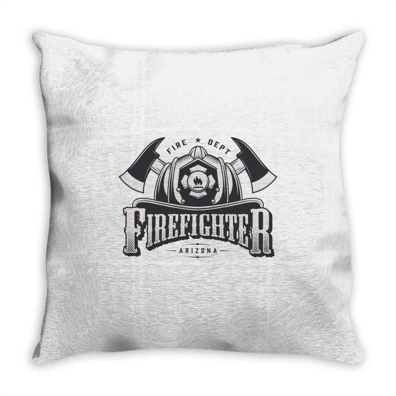Fire Dept, Firefighter, Fire, Fireman,  Arizona Throw Pillow | Artistshot