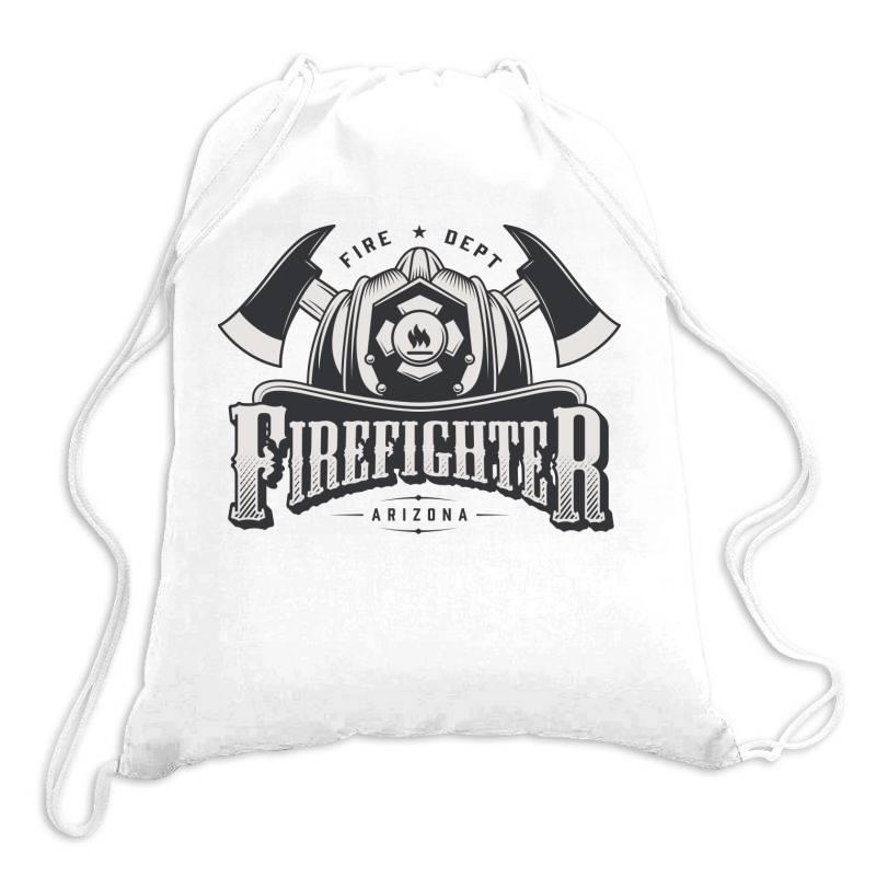 Fire Dept, Firefighter, Fire, Fireman,  Arizona Drawstring Bags   Artistshot