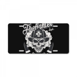 Firefighter dept, hell was full, So I came back, Skull License Plate | Artistshot