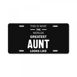 This Is What The Worlds Greatest Aunt - Auntie Gift License Plate | Artistshot