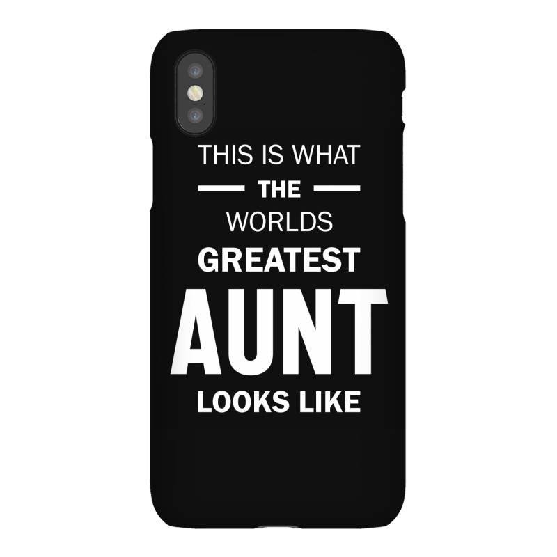 This Is What The Worlds Greatest Aunt - Auntie Gift Iphonex Case | Artistshot
