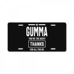 Gumma You're The Best! Mother Grandma Gift License Plate | Artistshot