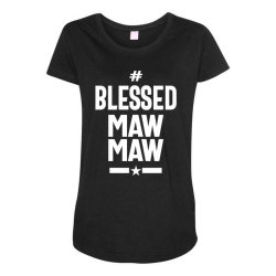 Blessed Mawmaw - Mother Grandma Gift Maternity Scoop Neck T-shirt | Artistshot