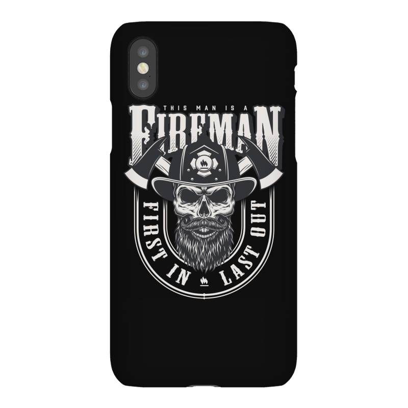 This Man Is A Fireman, Fire Dept, Rescue, First In Last Out, Skull Iphonex Case | Artistshot