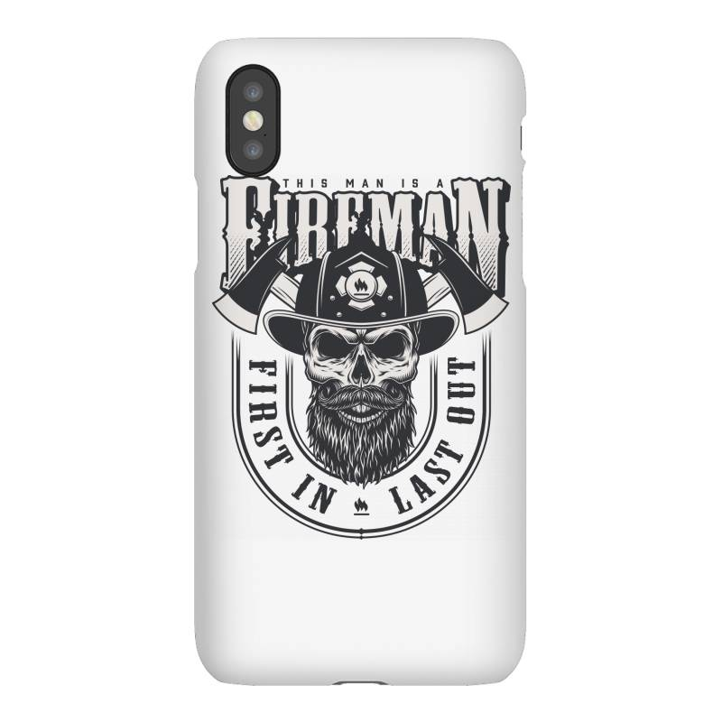 This Man Is A Fireman, Fire Dept, Rescue, First In Last Out, Skull Iphonex Case   Artistshot