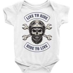 Live to ride, Ride to live, Motorcycles, Skull Baby Bodysuit | Artistshot