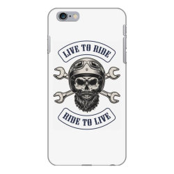 Live to ride, Ride to live, Motorcycles, Skull iPhone 6 Plus/6s Plus Case | Artistshot