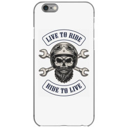 Live to ride, Ride to live, Motorcycles, Skull iPhone 6/6s Case | Artistshot