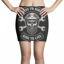 Live to ride, Ride to live, Motorcycles, Skull Mini Skirts | Artistshot