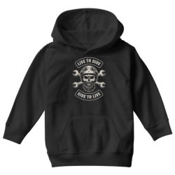Live to ride, Ride to live, Motorcycles, Skull Youth Hoodie | Artistshot