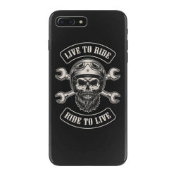 Live to ride, Ride to live, Motorcycles, Skull iPhone 7 Plus Case | Artistshot
