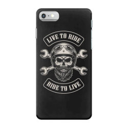 Live to ride, Ride to live, Motorcycles, Skull iPhone 7 Case | Artistshot