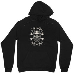 Live to ride, Ride to live, Motorcycles, Skull Unisex Hoodie | Artistshot