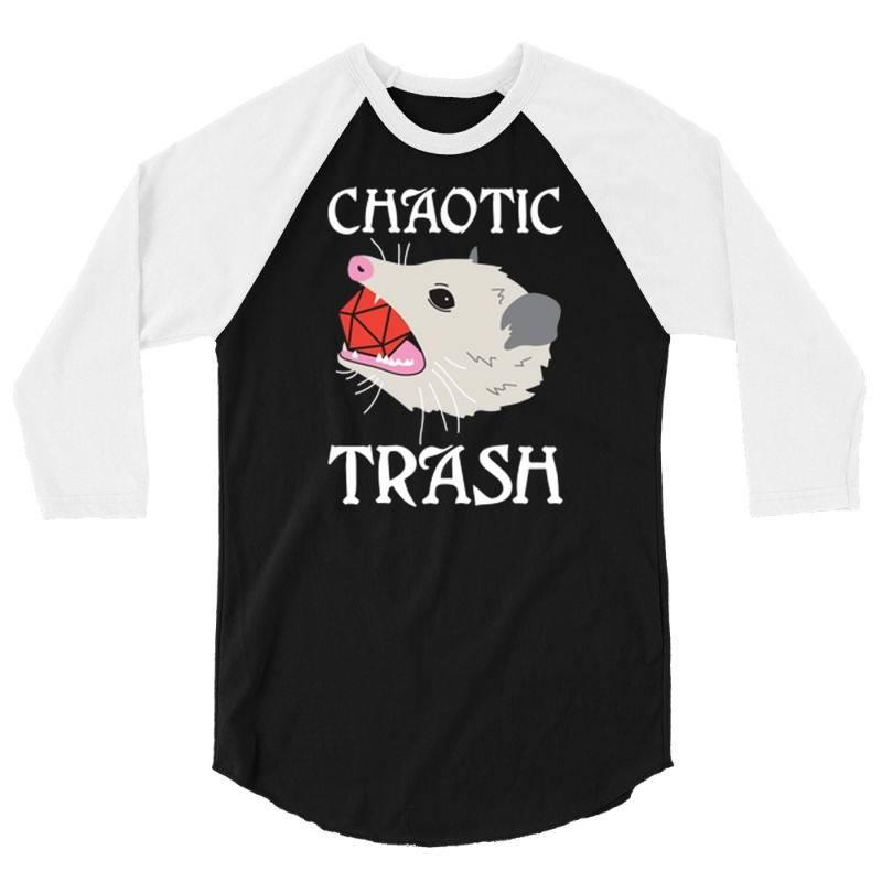 Chaotic Trash 3/4 Sleeve Shirt   Artistshot