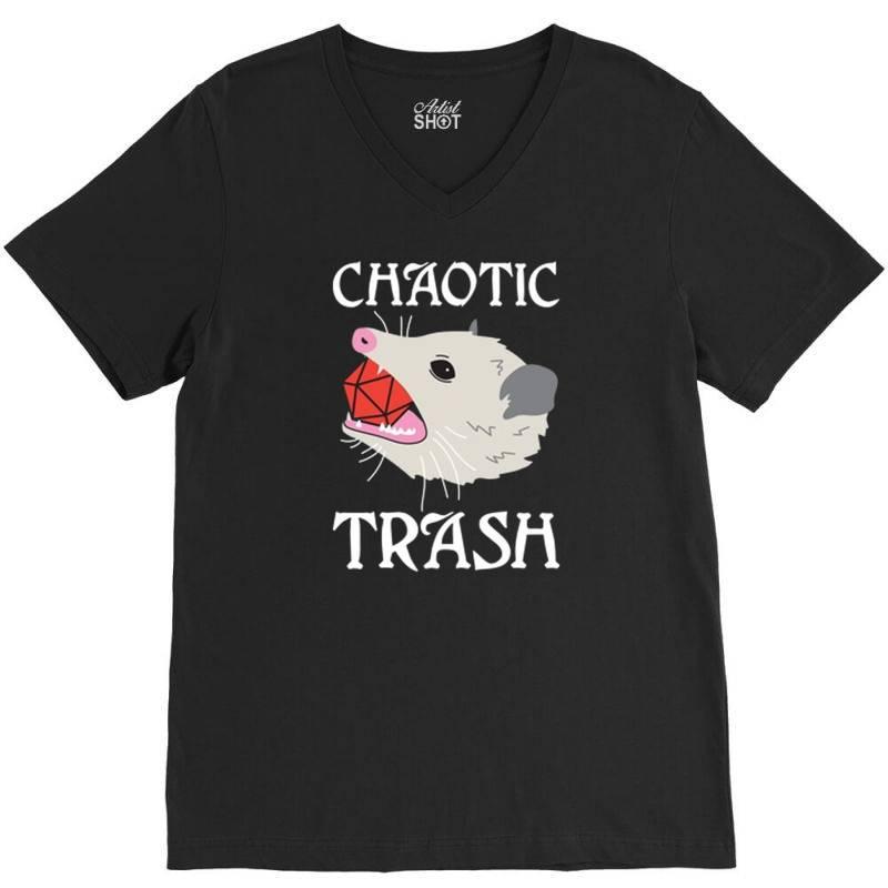 Chaotic Trash V-neck Tee | Artistshot