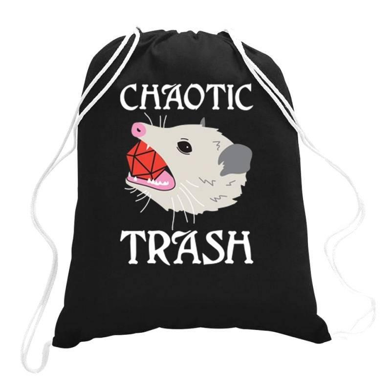 Chaotic Trash Drawstring Bags   Artistshot