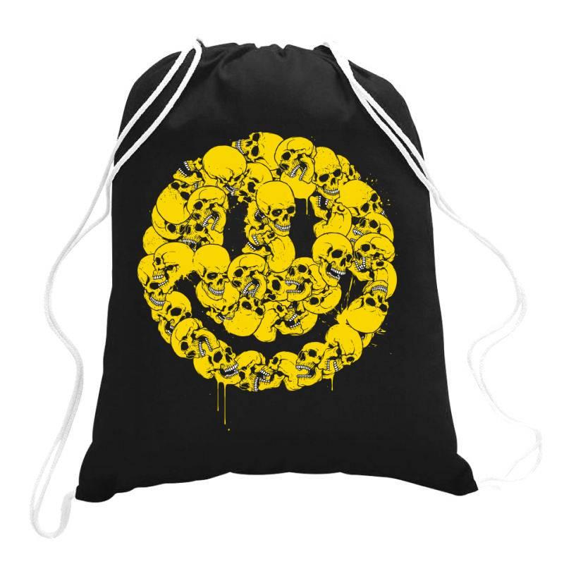 Keep Smiling Drawstring Bags | Artistshot