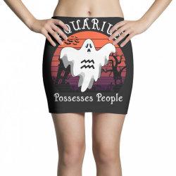 Vintage Ghost Zodiac Aquarius Funny Halloween Gift Mini Skirts | Artistshot