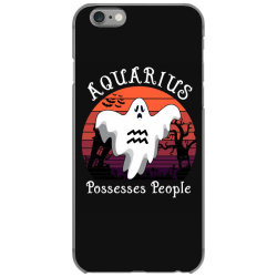 Vintage Ghost Zodiac Aquarius Funny Halloween Gift iPhone 6/6s Case | Artistshot