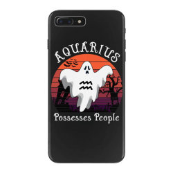 Vintage Ghost Zodiac Aquarius Funny Halloween Gift iPhone 7 Plus Case | Artistshot
