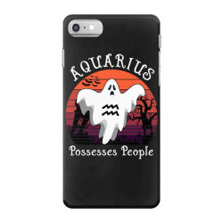 Vintage Ghost Zodiac Aquarius Funny Halloween Gift iPhone 7 Case | Artistshot