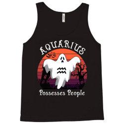 Vintage Ghost Zodiac Aquarius Funny Halloween Gift Tank Top | Artistshot