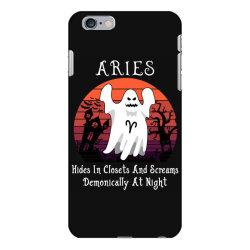 Vintage Ghost Zodiac Aries Funny Halloween Gift iPhone 6 Plus/6s Plus Case | Artistshot