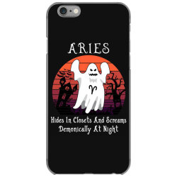 Vintage Ghost Zodiac Aries Funny Halloween Gift iPhone 6/6s Case | Artistshot