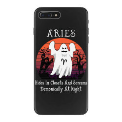 Vintage Ghost Zodiac Aries Funny Halloween Gift iPhone 7 Plus Case | Artistshot
