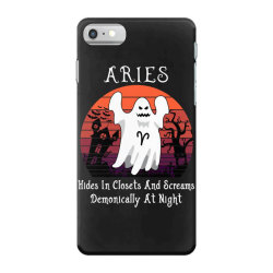Vintage Ghost Zodiac Aries Funny Halloween Gift iPhone 7 Case | Artistshot