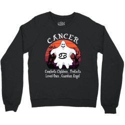 Vintage Ghost Zodiac Cancer Funny Halloween Gift Crewneck Sweatshirt | Artistshot