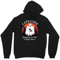 Vintage Ghost Zodiac Capricorn Funny Halloween Gift Unisex Hoodie   Artistshot