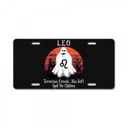 Vintage Ghost Zodiac Leo Funny Halloween Gift License Plate | Artistshot