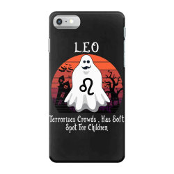 Vintage Ghost Zodiac Leo Funny Halloween Gift iPhone 7 Case | Artistshot