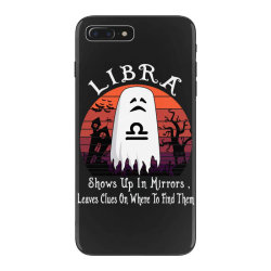 Vintage Ghost Zodiac Libra Funny Halloween Gift iPhone 7 Plus Case | Artistshot
