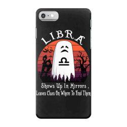 Vintage Ghost Zodiac Libra Funny Halloween Gift iPhone 7 Case | Artistshot