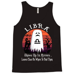 Vintage Ghost Zodiac Libra Funny Halloween Gift Tank Top | Artistshot