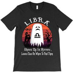 Vintage Ghost Zodiac Libra Funny Halloween Gift T-Shirt | Artistshot