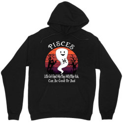 Vintage Ghost Zodiac Pisces Funny Halloween Birthday Gift Unisex Hoodie | Artistshot