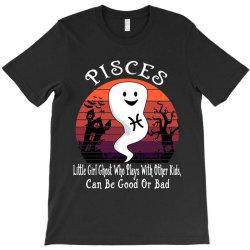 Vintage Ghost Zodiac Pisces Funny Halloween Birthday Gift T-Shirt | Artistshot