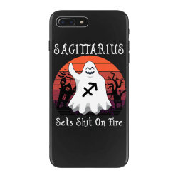 Vintage Ghost Zodiac Sagittarius Funny Halloween Birthday Gift iPhone 7 Plus Case | Artistshot